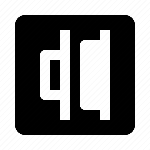 alignment, distribute, horizontal, right icon