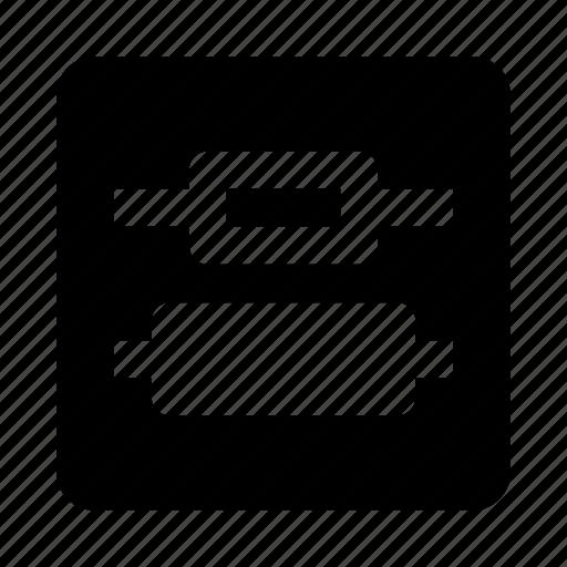 align, alignment, center, distribute, vertical icon