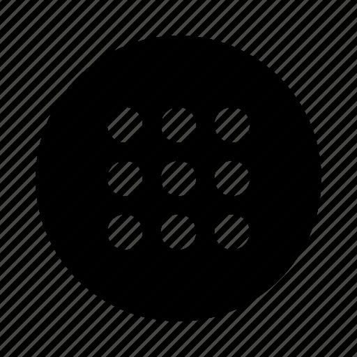 android, circle, dots, menu icon