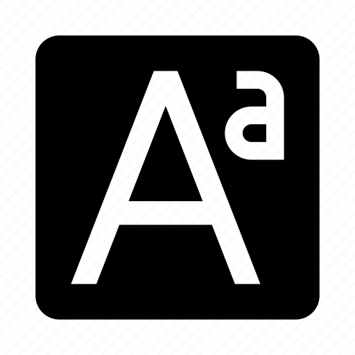 a, letter, text, type icon