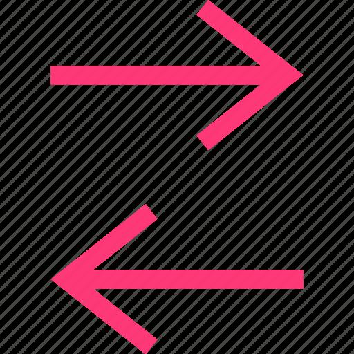 arrows, communication, data icon