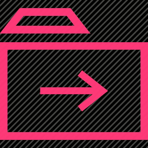arrow, folder, forward icon