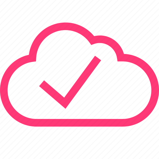 check, cloud, mark, mobile icon