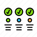 check2, column, creative, design, interface, table, tool icon
