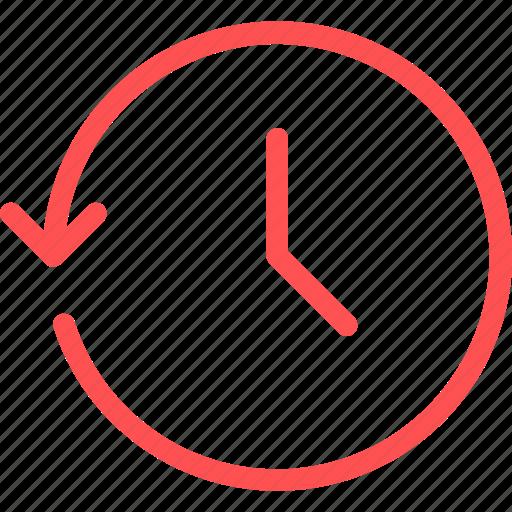 backup, interface, return, time icon