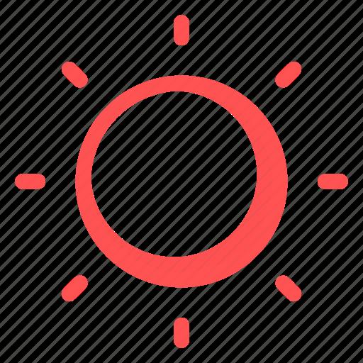 brightness, interface, light, low, sun icon