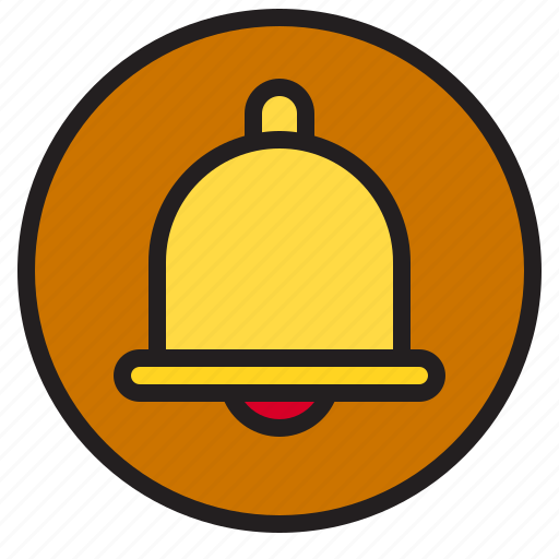 Bell, circle, sign icon