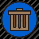 bin, circle, sign