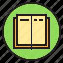 book, circle, sign