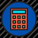 calculator, circle, sign