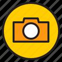camera, circle, sign