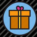 box, circle, gift, sign