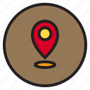 circle, location, sign icon