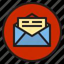 circle, mail, sign