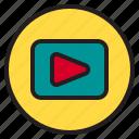 circle, movie, sign