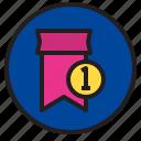 circle, reward, sign icon