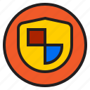 circle, shield, sign icon
