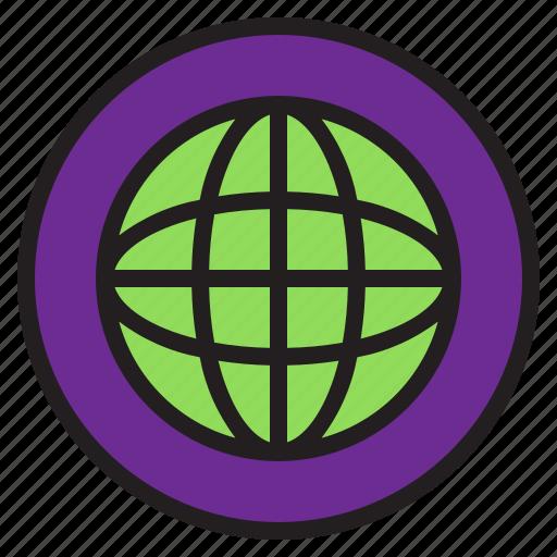 circle, sign, world icon