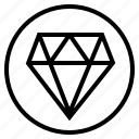 circle, dimond, sign icon