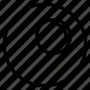 circle, glass, magnifying, sign