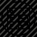 circle, hardware, sign, storage icon