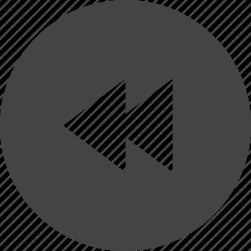 arrow, backward, circular, control, interface, ui icon