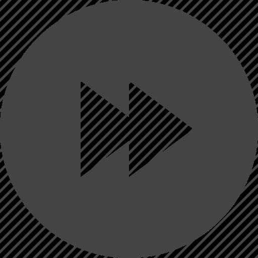 arrow, circular, control, forward, interface, ui icon