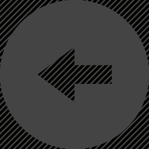 arrow, circular, control, interface, left, ui icon