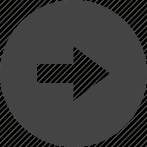 arrow, circular, control, interface, right, ui icon