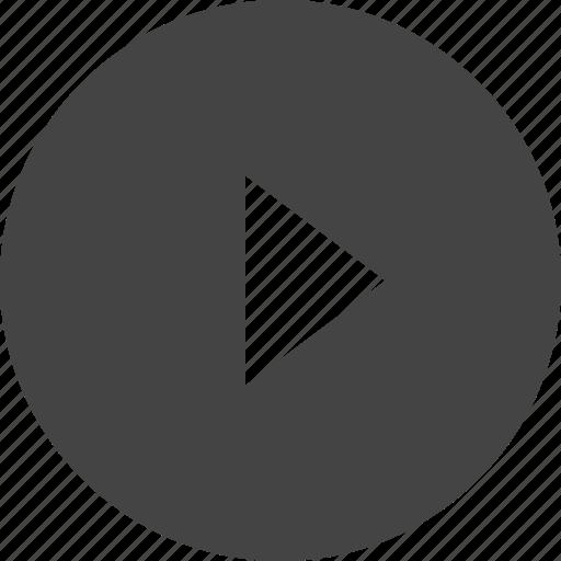 arrow, circular, control, interface, right, triangle, ui icon