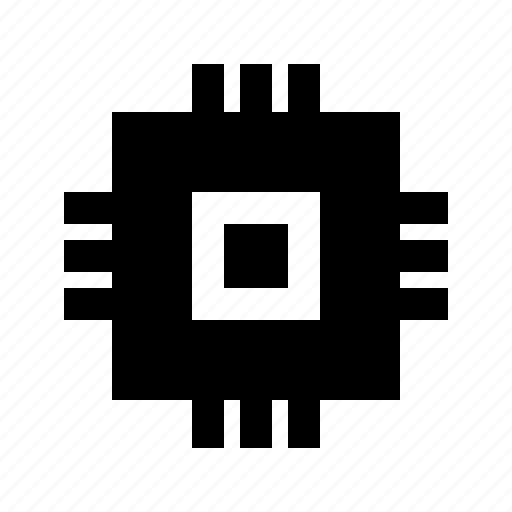 chip, electronics, gui, processor, web icon