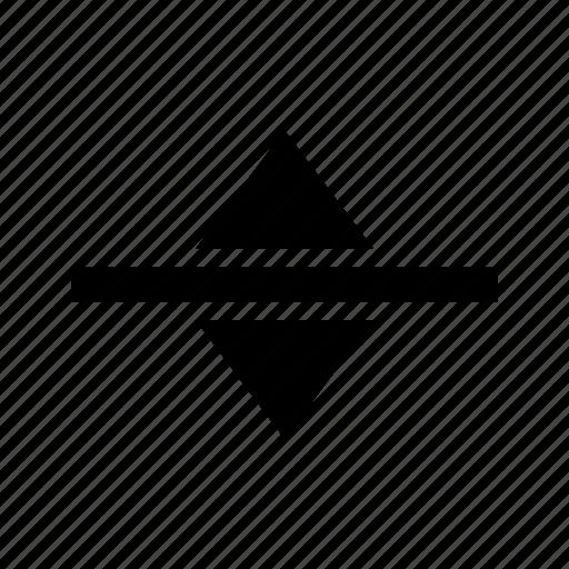 arrows, gui, move, vertical, web icon