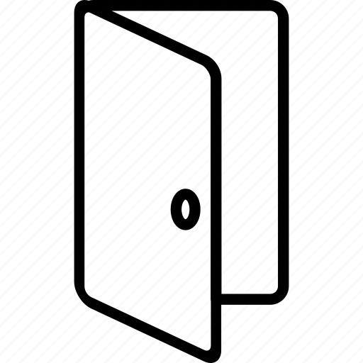 door, enter, exit, house, open icon