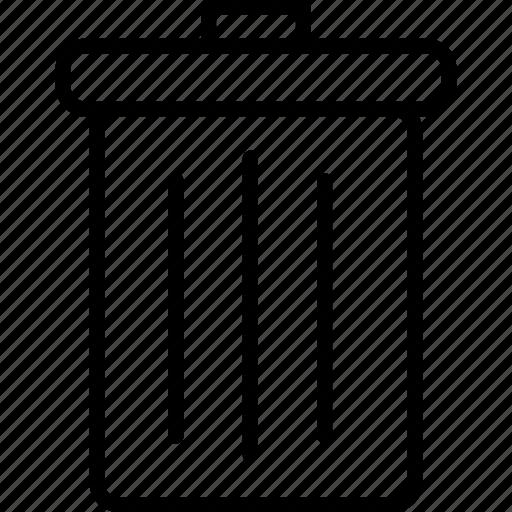 bin, can, delete, garbage, remove, trash, trash can icon