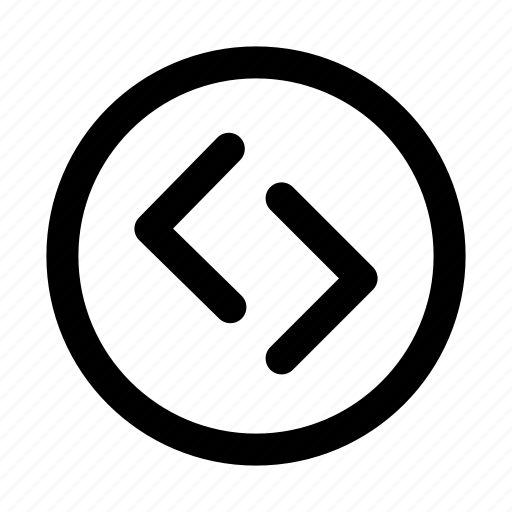 circle, essential, interface, left, right icon