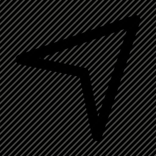 arrow, essential, interface, send icon