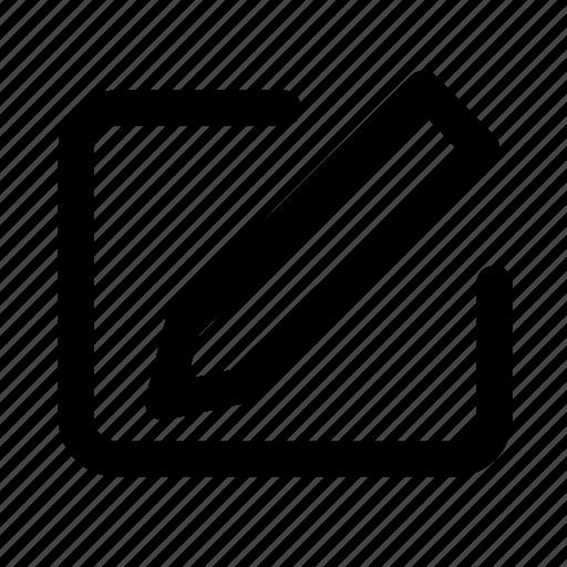 change, essential, interface, ui, write icon