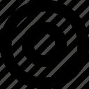 checked, circle, on, radio button, round icon