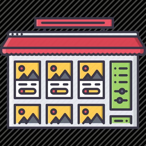 interface, market, online, shop, store, web, website icon