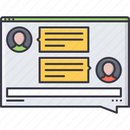 chat, interface, messenger, page, talk, website, window icon