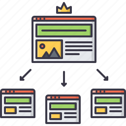 crown, page, platform, program, web, website, window icon