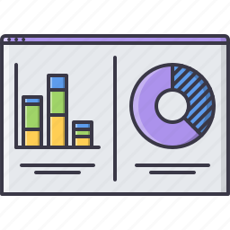 analytics, chat, graph, interface, monitoring, page, program icon