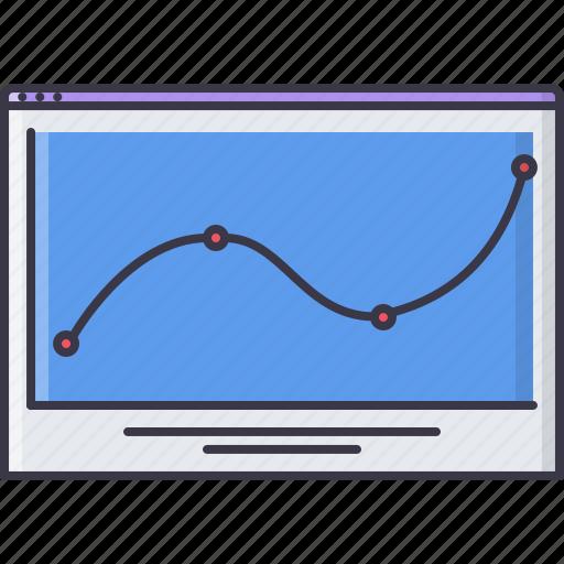 analytics, chat, data, graph, interface, page, program icon
