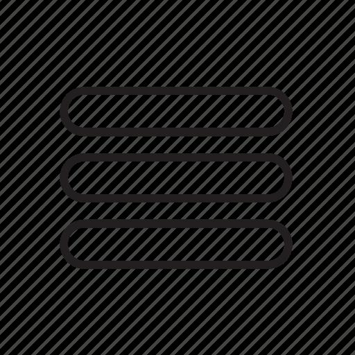 align, center, interface, menu, option icon
