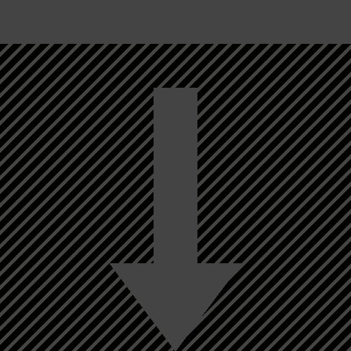 down, edg, grid, layout, theme icon