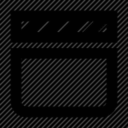 clapperboard, film, gui, movie, web icon