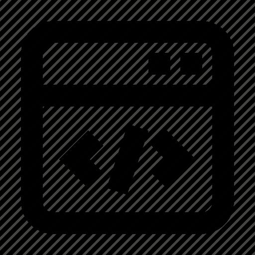 code, gui, programming, software, web icon