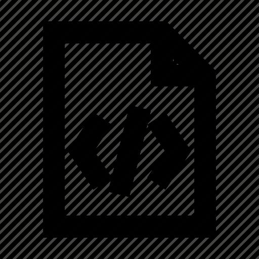 code, document, file, gui, web icon