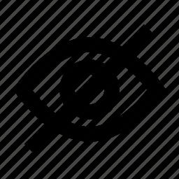 drag, eye, gui, hide, see, watch, web icon