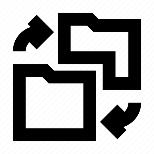 directory, folder, gui, sync, web icon